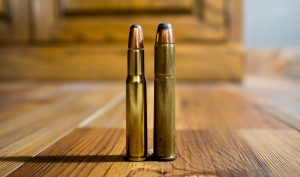 The classic .30-30 Winchester and its parent, the .38-55, are named for the bullet diameter (first number) and the original powder charges (second number), in this case 30 grains of (early) smokeless powder in the .30-30 and 55 grains of blackpowder in the .38-55.