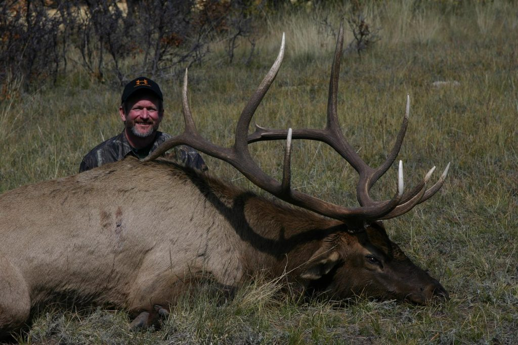 Drop camps can pay off for serious, dedicated and hard-hunting sportsmen. The author killed this dandy New Mexico bull out of a drop camp.