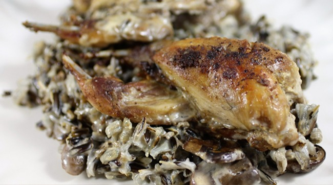 Quail and Wild Rice Casserole